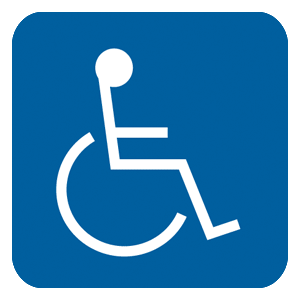 ADA-Accessibility-Sign-NHE-1_White_on_Blue_300